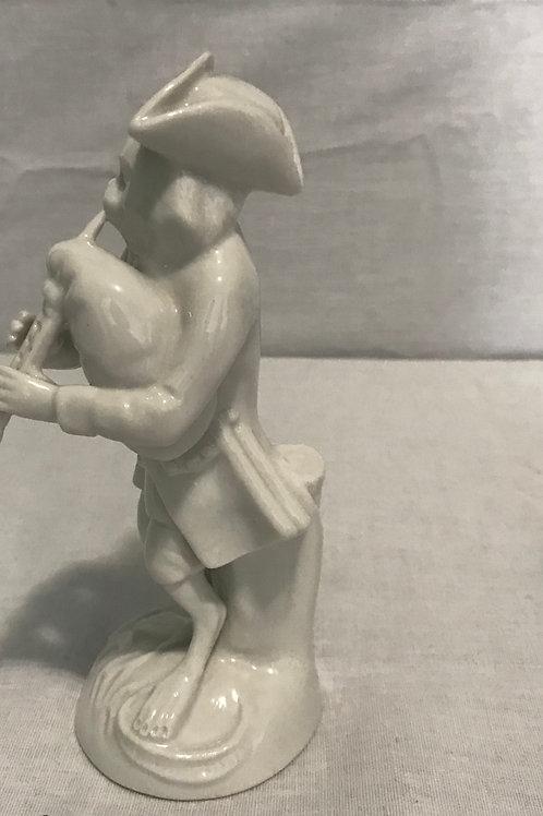 Monkey Band White Figurine