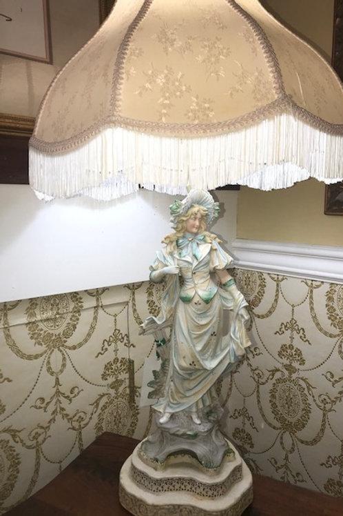 Bisque Porcelain Lamp