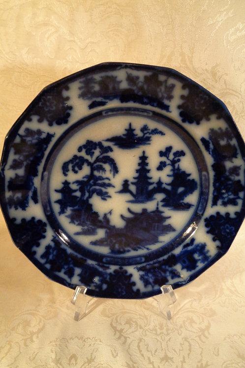 Deep blue rarely available Flo-Blue Plate