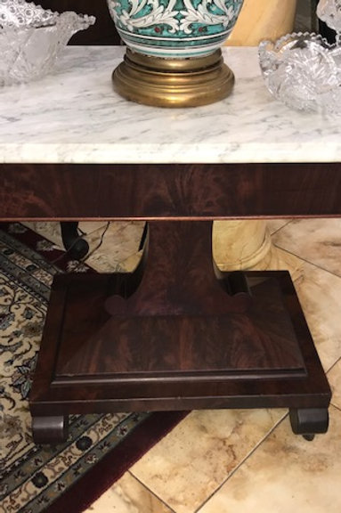 Empire Marble Top Parlor Table