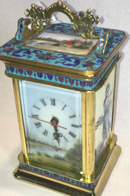 Cloisonne' & Enamel Clock