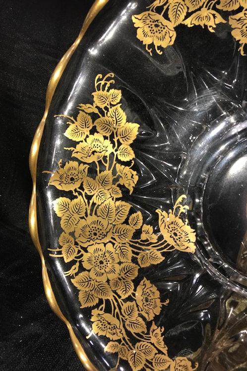 22kt. Gold Overlay Platter