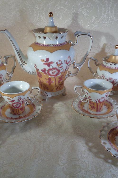 15pc hand painted fine porcelain tea set