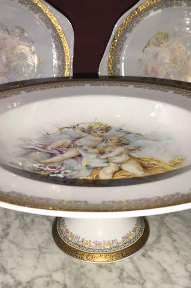 Limoges Cherub Plate Set-3
