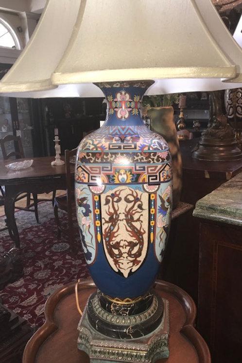 Cloisonne' Lamp Vintage