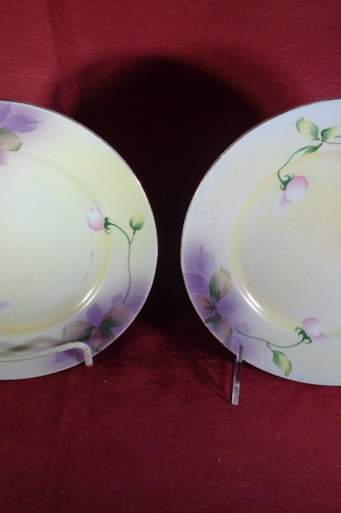 Hand Painted Floral Plates