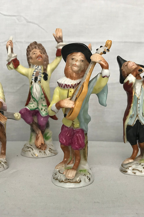 """Monkey Band"" 6 Pc. Figurine Set"