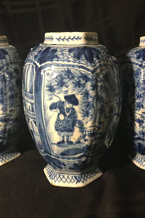 1840-1850's Large Chinese Canton Vases
