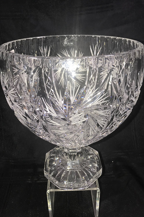 HAND CUT CRYSTAL COMPOTE BOWL