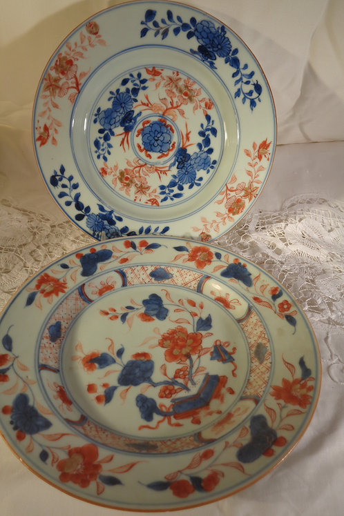 18th-19th Century Antique Canton Dinner Bowls