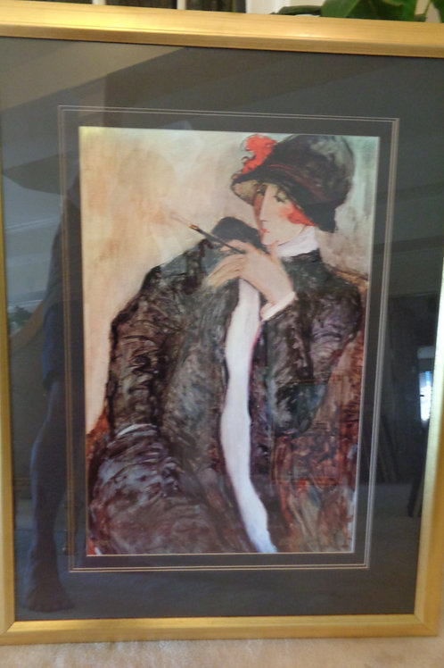 "BARBARA WOOD ""MRS. SIMPSON"" LITHOGRAPH S/N"