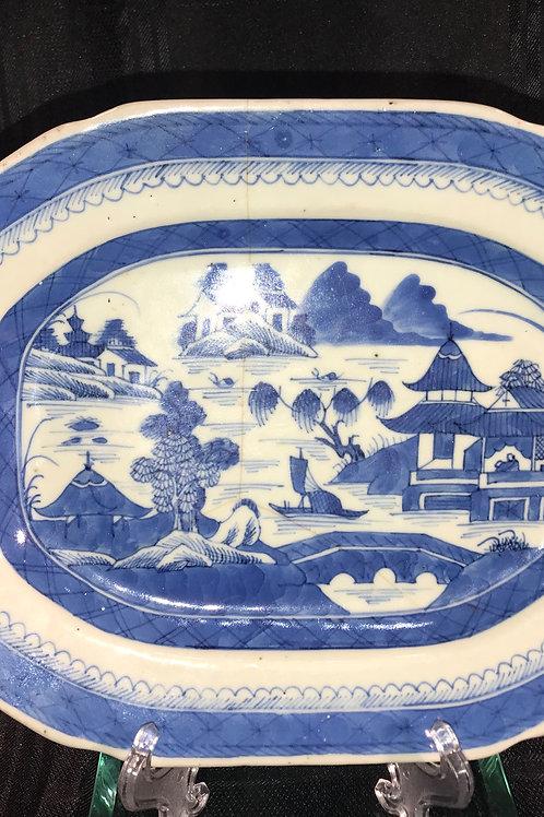 CANTON EXPORT BLUE & WHITE PLATTER