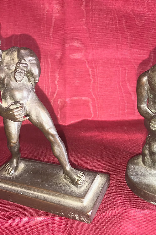 PAIR BRONZE STATUES
