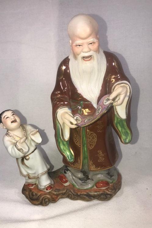 """K'ang Hsi """"Pu Tai Ho Shang"""" Statue"""