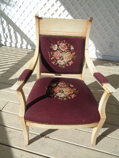 Art Deco Needlepoint Chair