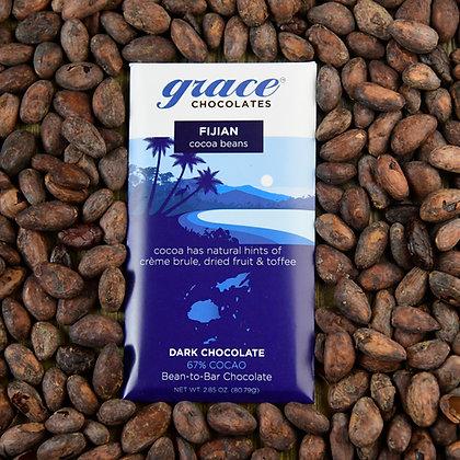 67% Cocao Fijian Dark Chocolate Bar - 2.85 oz.
