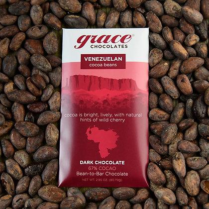 67% Cocao Venezuelan Dark Chocolate Bar - 2.85 oz.