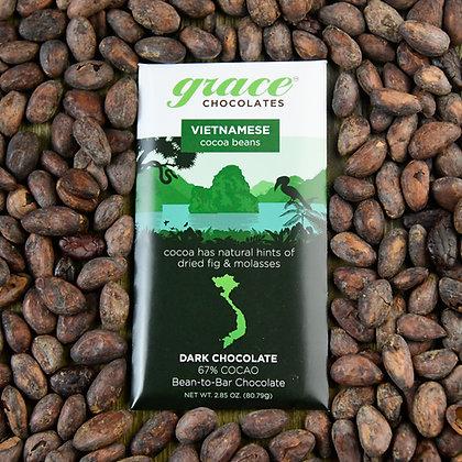 67% Cocao Vietnamese Dark Chocolate Bar - 2.85 oz.