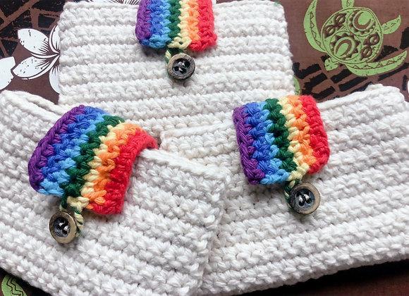 Rainbow Crochet Card Case レインボー編みカードケース