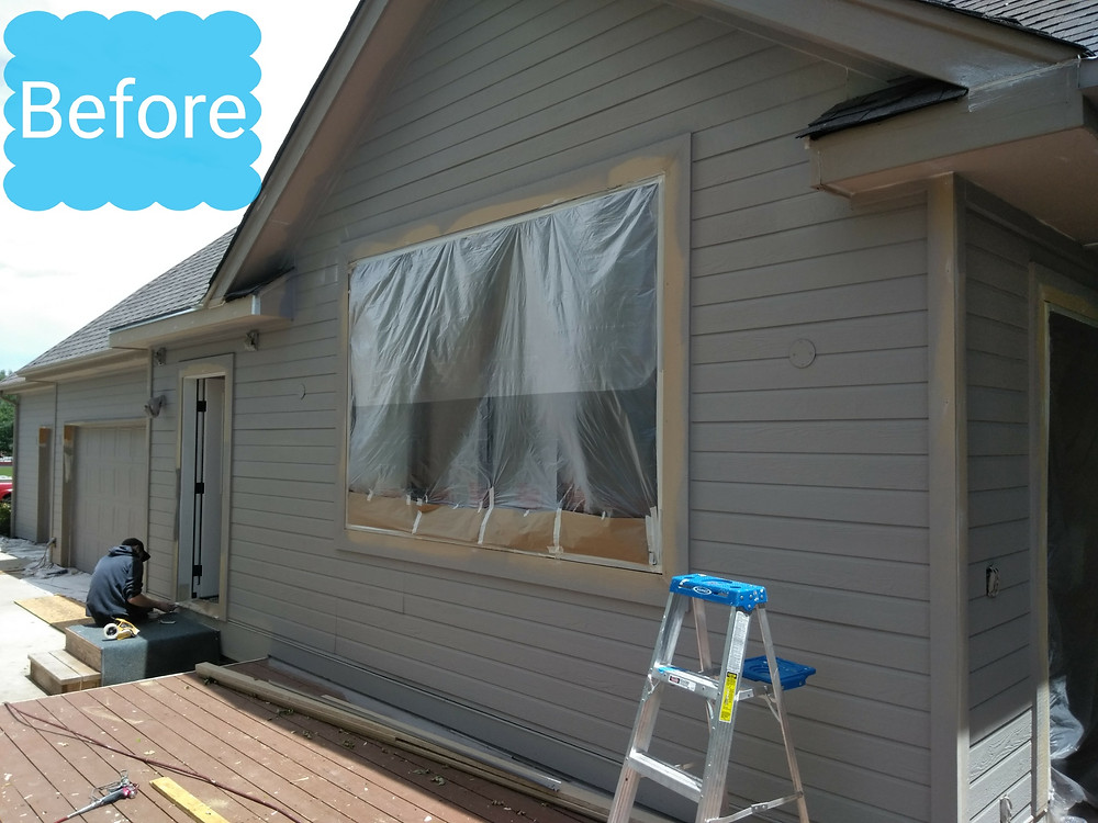 Before Estes Park Colorado Painting Service Exterior Paint Contractor Exterior painting, staining, deck refinishing, Niwot Colorado near Longmont Colorado with Sherwin Williams Superpaint Paint, Powerhouse Caulking, Pressure washing