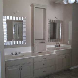 Bathroom Remodel Cabinets After Painting