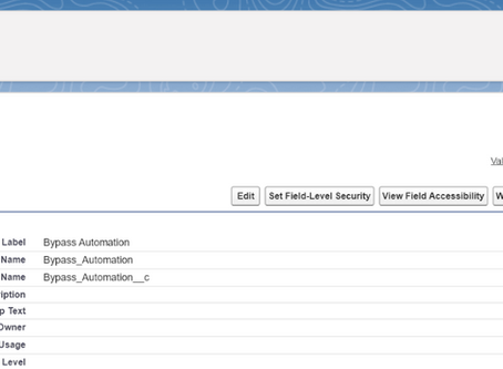 Setting Up Automation and Validation Rule Bypasses in Salesforce