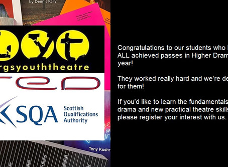 Congratulations to our SQA Higher students
