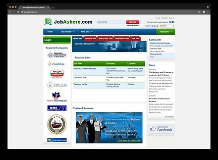 jobashore.com homepage