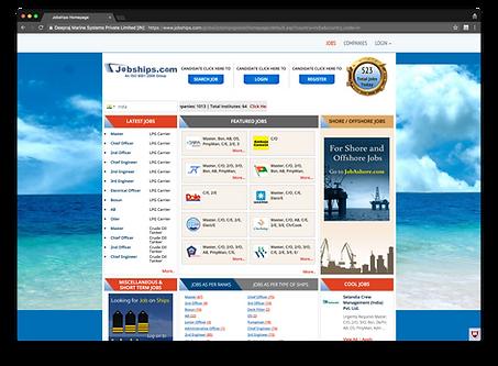 jobships.com homepage