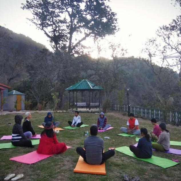Yoga Session at Doonagiri Retreat