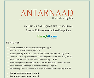 Antarnaad Newsletter Special edition May