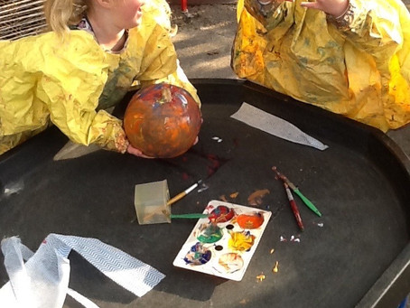 Painting, printing and pumpkins!