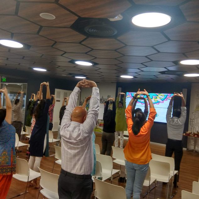 Yoga session at Corporate
