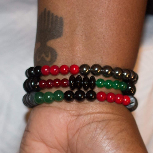 Handcrafted African National Bracelets