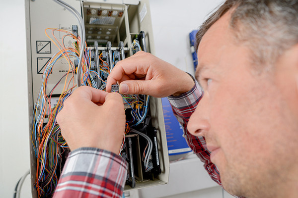 Replacing a blown fuse is common. Circuit breakers alleviate common problems in older homes.
