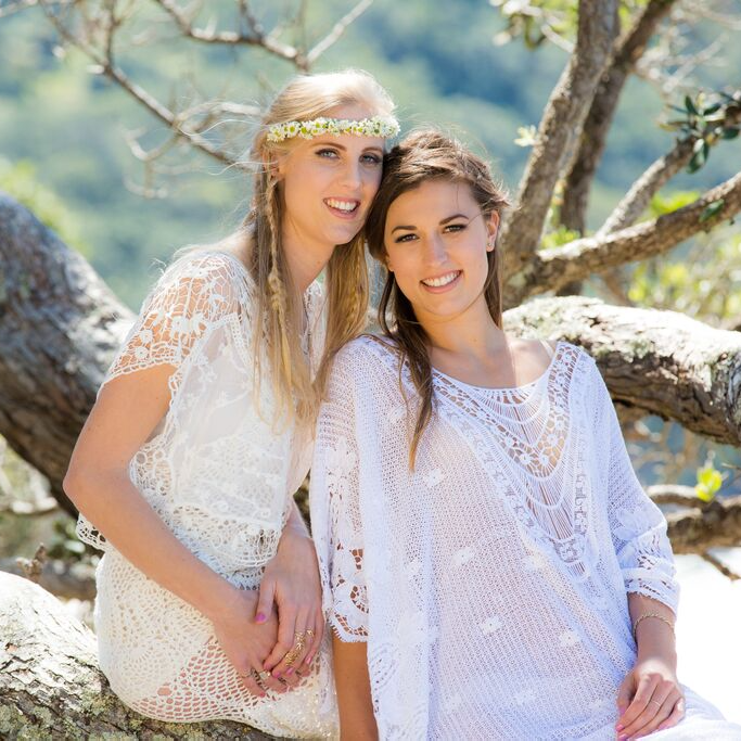 bridemaids boho shoot makeup