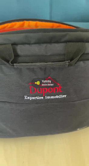 Sac ordinateur ou tablette  Brodé avec Usb haute qualité