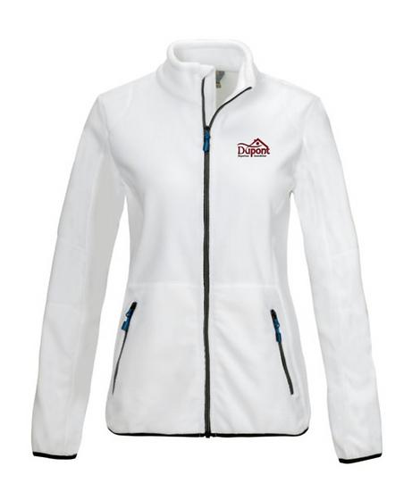 Veste Femme Micropolaire 100 % polyester Blanc