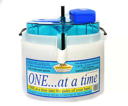 One At A Time Bucket  includes D-Battery Operated Stone Bubble Aerator