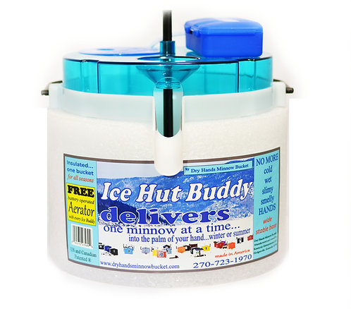 Ice Hut Buddy  includes D-Battery Operated Stone Bubble Aerator