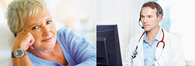 Le coffret de téléalarme Vivago est le même dans les 2 cas que vous choisissiez la téléassistance Classique ou Médicalisée.
