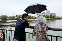 諏訪川とカヌー