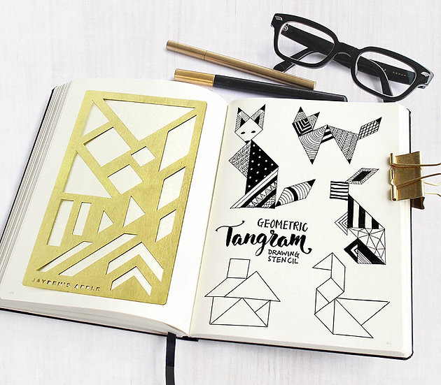 Bullet Journal Stencil - Tangram
