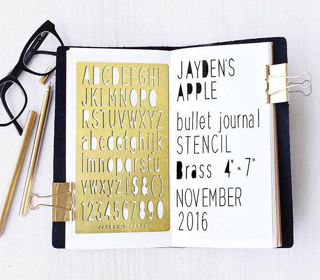Bullet Journal Stencil - San Serif