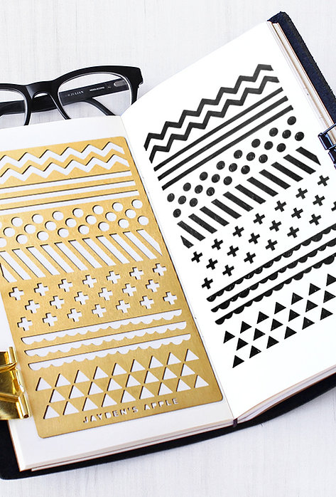 Bullet Journal Stencil - Pattern