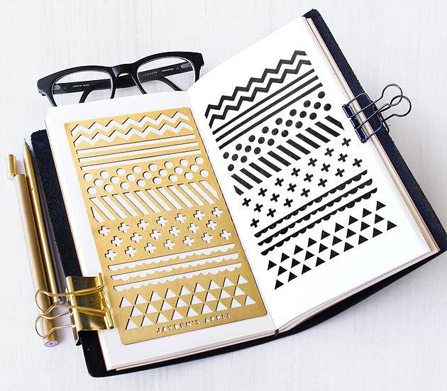 Bullet Journal Stencil - Pattern