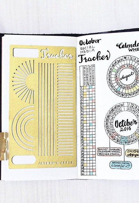 Bullet Journal Stencil - Calendar Wheel / Tracker