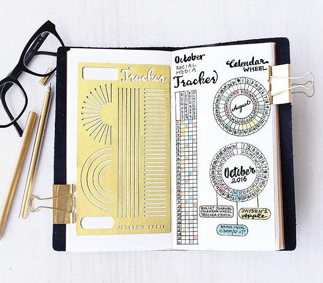 Bullet Journal Stencil - Calendar Wheel / Tracker
