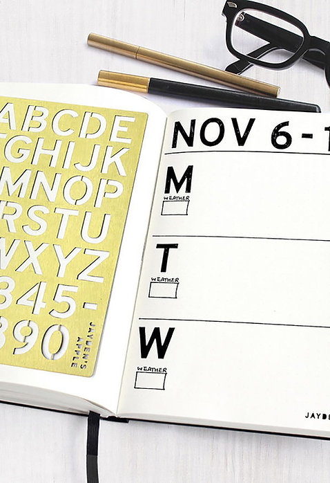 Bullet Journal Stencil - Alphabet