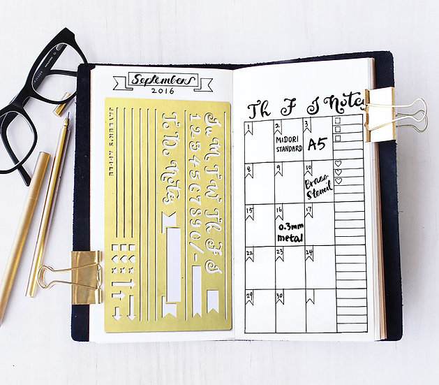 Bullet Journal Stencil - Monthly/Weekly Plan
